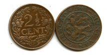 2 1/2 цента 1947 год Нидердандские Антиллы (Кюрасао)