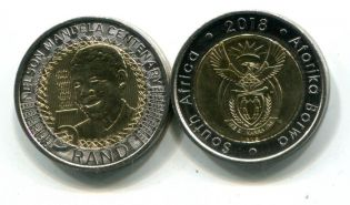 5 ранд 2008 год (Нельсон Мандела) биметалл Южная Африка
