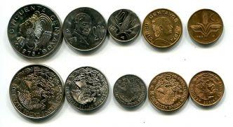Набор монет Мексики 5 штук