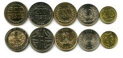 Набор монет Колумбии