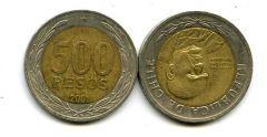 500 песо (биметалл) Чили