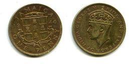 1 пенни 1940 год Ямайка (Британская)