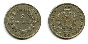 2 колона 1961 год Коста-Рика