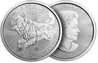 5 долларов волк Канада 2018 год