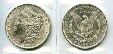 1 доллар 1886 год (Морган доллар) США
