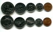 Набор монет Малайзии 5 монет