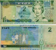 2 доллара 2002 год Фиджи