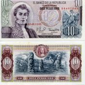 10 песо 1980 год Колумбия