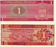 1 гульден 1970 год Нидерландские Антиллы