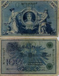100 марок 1908 год Германия