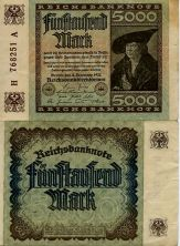 5000 марок 1922 год Германия