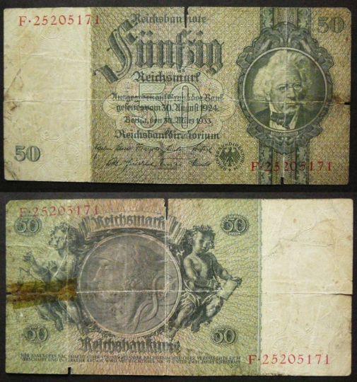 50 марок 1933 год Германия