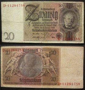 20 марок 1929 год Германия