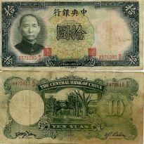 10 юаней 1936 год Китай