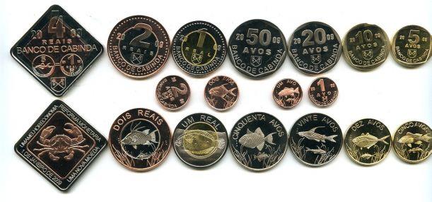 Набор монет Кабинды 2009 год
