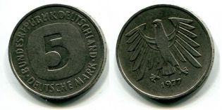 5 марок 1977 год Германия