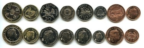 Набор монет Гернси