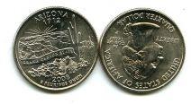 25 центов (квотер) 2008 год (Аризона) США