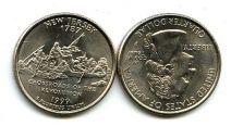 25 центов (квотер) 1999 год (Нью Джерси) США