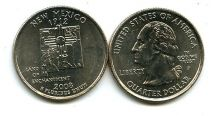 25 центов (квотер) 2008 год (Нью Мексико) США