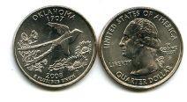 25 центов (квотер) 2008 год (Оклахома) США
