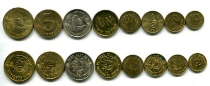 Набор монет Перу