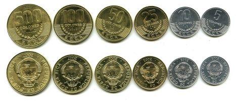 Набор монет Коста-Рики