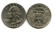 25 центов (года разные) США