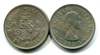 1 крона 1953 год Новая Зеландия