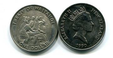 1 доллар 1990 год Новая Зеландия