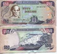 50 долларов 2004 год Ямайка