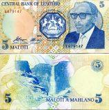 5 малоти 1989 год Лесото