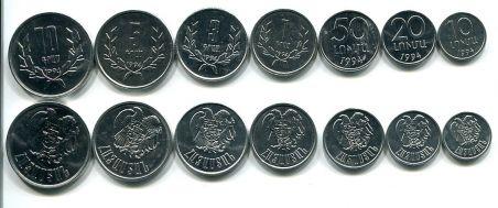 Набор монет Армении
