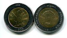 500 лир 1983 год (биметалл) Сан-Марино