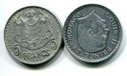 5 франков 1945 год Монако