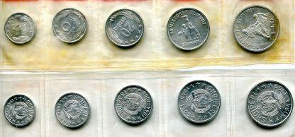 Набор монет Албании 1969 год