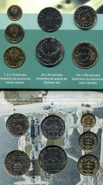 Набор монет Португалии 2001 год