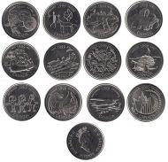 Набор монет Миллениум Канады 25 центов 1999 год