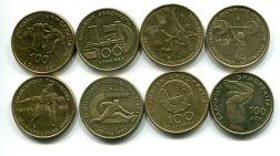 Набор монет Греции 100 драхм 4 монеты спорт
