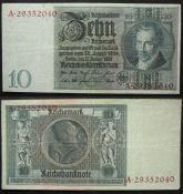 10 рейхсмарок Веймар Германия 1929 год