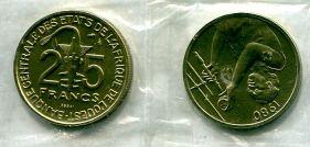 25 франков 1980 год ESSAI Западно-Африканский Валютный Союз