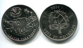 1 песо 1995 год FAO (коровы) Куба