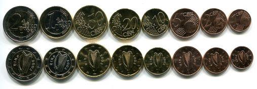 Набор монет евро Ирландии
