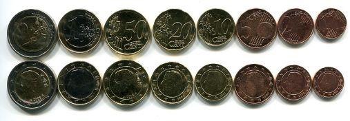 Набор монет евро Бельгии