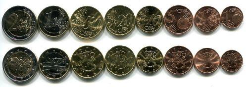 Набор монет евро Финляндии 2011 год