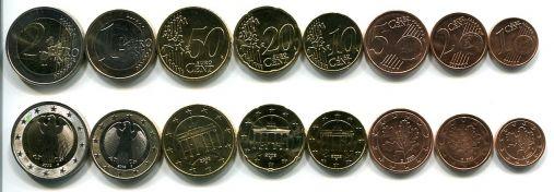 Набор монет евро Германии