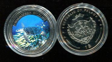 1 доллар 2008 год (черепаха) Палау