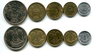 Набор монет Египта с орлом