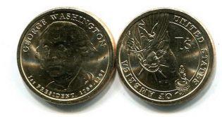 1 доллар 2007 год Джордж Вашингтон 1-й президент США