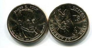 1 доллар 2009 год (Джеймс К. Полк) США